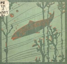 Aquatic life. How Sammy went to Coral-land. 1902. Book cover, detail. The story of a salmon named Sammy and his adventures in the ocean..