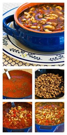 Easy Recipe for Italian Sausage, Tomato, and Macaroni Soup with Basil is delicious and family friendly! [from KalynsKitchen.com] #FamilyDinner #Soup