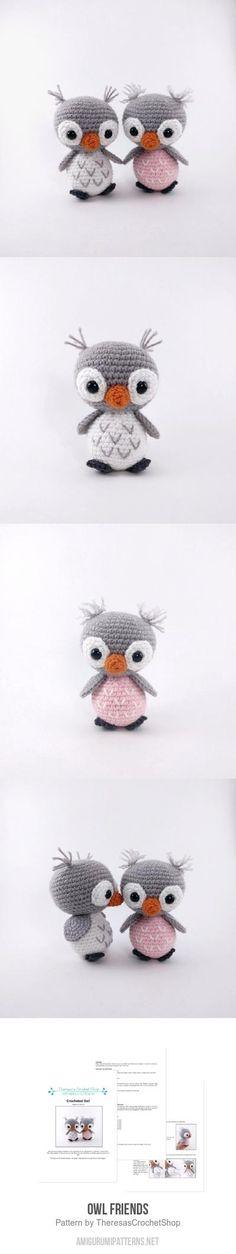 Owl Friends amigurumi pattern