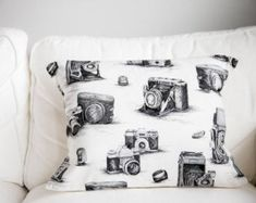 Items similar to Antique Camera Pillow case / vintage camera pillow / vintage camera print / antique / photography /old camera pillow on Etsy Camera Decor, Vintage Polaroid Camera, Antique Cameras, Spring, Digital Prints, Bed Pillows, Photo Wall, Etsy Shop, Trending Outfits