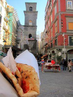 Margherita Pizza to go in Naples, Italy  from Eating Cheap in Naples via @NonstopfromJFK