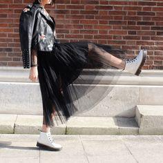 Pleated Elastic Waist Tulle Skirt   SHEIN USA Elastic Waist Skirt, Tulle Skirts, Black Mesh, Harem Pants, Usa, Style, Fashion, Swag, Moda