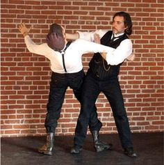 Bartitsu, the steampunk mixed martial art. Mark Donnelly is the man on the right.
