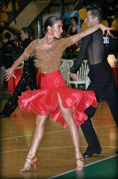 Dance - Ballroom Latin: Tan, Fuchsia