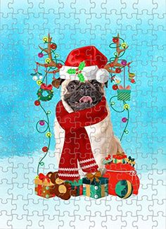 Pug Dog in Snow Jigsaw Puzzle, Christmas, 1000 Pieces Jigsaw Puzzle PrintYmotion #Pug #Dog Lovers gift #Christmas Gift #Christmas Puzzle Christmas Jigsaw Puzzles, Christmas Puzzle, Christmas Dog, Christmas Ideas, Lovers Gift, Dog Lovers, Dog Puzzles, St Bernard Dogs, Basset Hound Dog