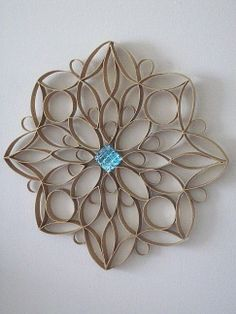 TPaper Roll Wrought Iron Motif Craft Decor by dzdoodles on Etsy, $14.99