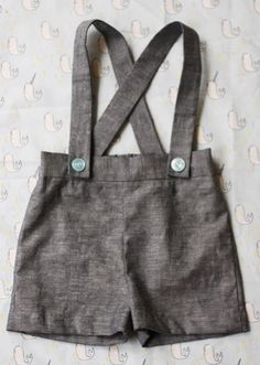 Baby Suspender Shorts Tutorial and Pattern. These would be stinkin' cute with a bowtie onesie and maybe matching shoes.