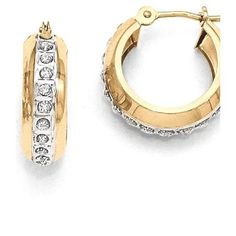 618f209b3 ICE CARATS 14kt Yellow Gold Diamond Fascination Round Huggy Hinged Hoop  Earrings Ear Hoops Set Fine Jewelry Ideal Gifts For Women Gift Set From  Heart # ...