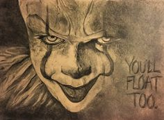 My growing obsession with Pennywise and It. #Stephen king #stephen king's it #pennywise #graphite #toned paper #sketch #art #horror #clown #bill skarsgard