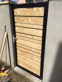 Wooden Door Design Front Entry 25 Ideas For 2019 Wooden Door Design, Front Door Design, Fence Design, Fence Doors, Garden Doors, Metal Fence Gates, Backyard Gates, Garage Door Hardware, Side Gates