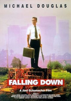 Falling Down is a 1993 neo-noir psychological crime thriller film. The film stars Michael Douglas in the lead role of William Foster. The film centers on Foster as he goes on a violent rampage across the city of Los Angeles, trying to reach the house of his ex-wife in time for his daughter's birthday party. Along the way, a series of encounters, both trivial and provocative, cause him to react with violence and make sardonic observations on life, poverty, the economy, and commercialism.