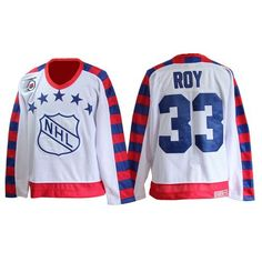 Patrick Roy Jersey-Buy 100% official CCM Patrick Roy Men's Authentic 75TH All Star White Jersey Throwback NHL Montreal Canadiens #33 Free Shipping.