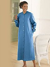 Women's Snap Front Fleece Robe | Outlet