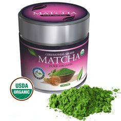 Distinctly Organic Matcha Green Tea - (USDA) Ceremonial Grade Powder - Natural Health Benefits - Free Recipe eBook * You can find more details by visiting the image link. (This is an affiliate link) #GreenTea