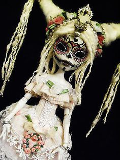 OOAK Monster High Ballerina CAM Skeleton doll Dia De Los Muertos