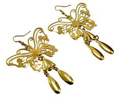 A Pair of Indian Brass Metal Cute Butterfly Design Hippie Danglers Fashion Earrings Krishna Mart India http://www.amazon.com/dp/B00UOYARHS/ref=cm_sw_r_pi_dp_tS.Dvb06QGM7P