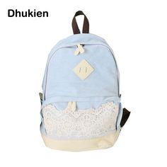 Fashion Backpack Girl Denim Backpack Blue Lace School Backpacks for  Teenager Girl Quality Student Travel Bag 9fe1cba86a619