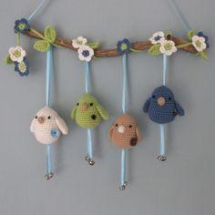 Crochet Baby Mobiles, Crochet Mobile, Crochet Baby Toys, Crochet Birds, Easter Crochet, Crochet Home, Crochet Animals, Crochet For Kids, Baby Knitting