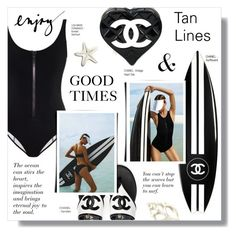 """GOOD TIMES"" by larissa-takahassi ❤ liked on Polyvore featuring Chanel and Lisa Marie Fernandez"