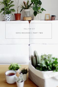 Sofa Recover Part Two Fall For DIY
