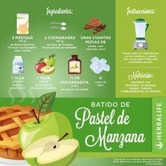 hoy nos toca un batido de pastel de manzana #productos #herbalife
