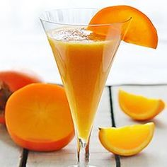 Persimmon Orange Smoothie - great way to start you day in fall/winter
