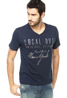 Camiseta Local Azul - Compre Agora   Dafiti Brasil Estampa Masculina,  Estamparia, Brasil, ac390af69f
