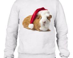Santa Claus Guinea Pig Men's Christmas Sweatshirt Jumper