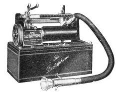 Cylinder-recording dictatphone