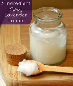 1/3 cup coconut oil ... 2 tbsp beeswax...  5 drops lavender essential oil...