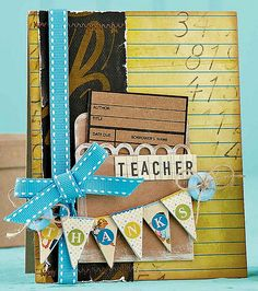 Teacher Thanks Card by @Emily Schoenfeld Branch