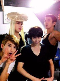 Ryeowook, Heechul, Kyuhyun, Siwon