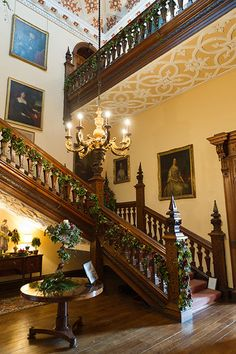stairway of grandeur- Interior photography of the Arley Hall floral extravaganza