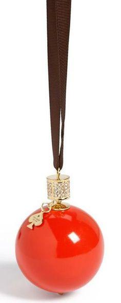 kate spade new york bejeweled pave globe ornament