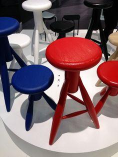 Rocket stools by Eero Aarnio in new colors. Produced by Artek.