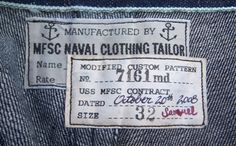 Naval Clothing Label