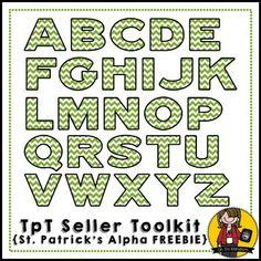 TpT Seller Toolkit {St. Patrick's Alpha FREEBIE}