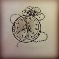 Miss Juliet...Tattoo,Draw and Life: Clock tattoo