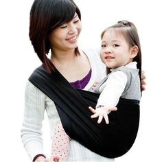 Ecloud ShopUS Black Cotton Baby Kids Toddler Sling Carrier Wrap Pouch -- Click on the image for additional details.-It is an affiliate link to Amazon.