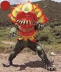 The rangers faced this nameless flower-like tooth-full monster when they enter the demon underworld. Oddly this monster wasn't seen when Prince Olympius absorbed the monsters energy. See Also Papetongu - Super Sentai counterpart in GoGoFive. See comparison page.