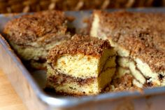 "Sour Cream Coffee Cake (with a Chocolate Cinnamon Swirl)  from ""Baked: New Frontiers In Baking"" via Amateur Gourmet"