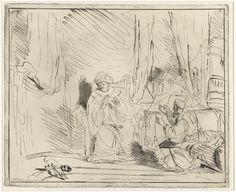 Louis Bernard Coclers | David en Nathan, Louis Bernard Coclers, 1756 - 1817 | De profeet Nathan verklaard koning David dat God hem zal straffen voor begane zonden.