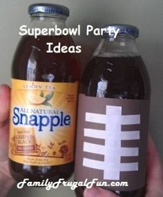 Football Snapples Beverages for your Superbowl Party! Frugal and fun! ☺