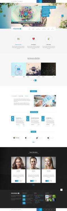 Providence - Multi Purpose PSD Template by Zizaza - design ocean, via Behance Mobile Ui Design, App Design, Web Design Gallery, Tablet Ui, Ui Design Inspiration, Ui Web, User Interface Design, Psd Templates, Purpose
