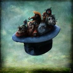 Monsters in a Flying Hat...by Alexander Jansson