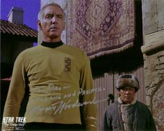 Morgan Woodward in Star Trek, two different characters. Season 1 ''Dagger of the Mind''  as Dr. Simon Van Gelder and season 2  ''The Omega Glory'' as Captain Ron Tracey .