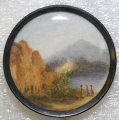 1775 French ivory  metal painted button.