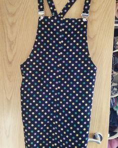 My Tilly Buttons Cleo dress made in indigo spotty needlecord fabric from the fabulous Fabric HQ in Stoke Mandeville.