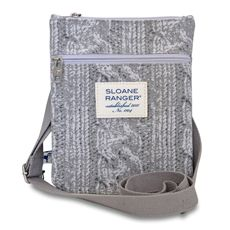 cable knit crossbody.