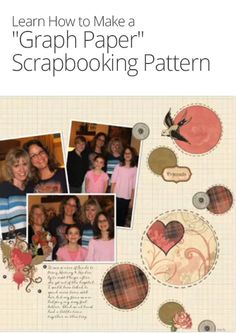 """Graph Paper"" Scrapbooking Pattern"